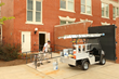 This Carryall 300 is equipped with ladder racks and other equipment to free space on the bed and keep painters working.