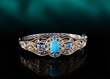 Sleeping Beauty Turquoise Bangle