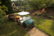 The Carryall 500 utility vehicle's powerful 14-hp Subaru EFI engine delivers a total vehicle capacity of up to 3/4 ton. It features a rustproof aircraft-grade aluminum frame and body