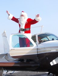 2012--Santa and volunteer pilots from Angel Flight West Utah Wing delivered an early Christmas to Cedar City kids