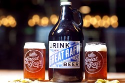 A photo of beer from Great Raft Brewing