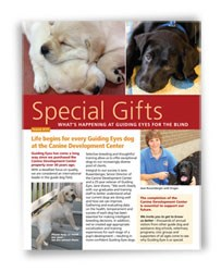 Guiding Eyes for the Blind Special Gifts Newsletter