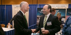 Peter Bagwell and Florida Governor Rick Scott at the 2013 MAF Summit