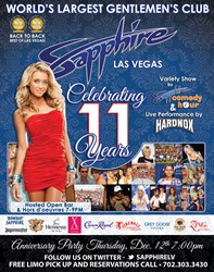 Sapphire Gentlemen's Club 11th Anniversary Party Thursday December 12th