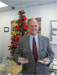 Gupton accepts two 2013 BBB Torch Awards for KMG Gold