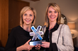 Virsys12 Founder and President Tammy Hawes and partner Valerie Landkammer with 2013 NEXT Award for Technology Startup