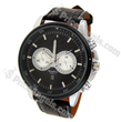 Stylish Exquisite Dial Men's Wrist Watch with Date Display-Black Band