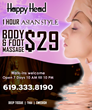 Foot reflexology massage in San Diego