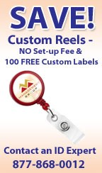Customize Badge Reels for No Cost in December at IDCardGroup.com