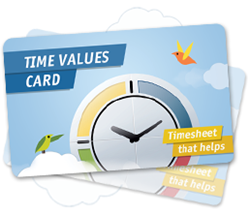 Time Values cards