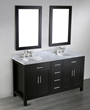 60'' Bosconi SB-252-4 Contemporary Double Bathroom Vanity