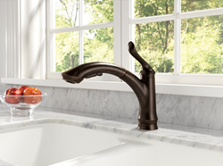 delta 1353-dst linden single handle kitchen faucet with diamond seal technology valve