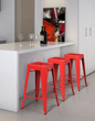 Zuo Modern Marius Bar Chair Red 106109