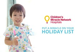 """Children's Miracle Network Hospitals """"Put a Miracle on your Holiday List."""""""