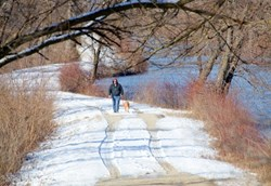 """A Fine Winter Walk"" By photographer Kris Love of Osco, Illinois"