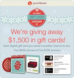 Punchbowl is giving away $1,500 in prizes!