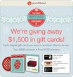 Punchbowl Announces the 2013 'Great Gift Card Giveaway'