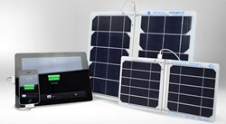 Suntactics Portable Solar Chargers (right) Apple Products (left)