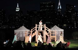 "Hip to Hip Theatre Company Performs William Shakespeare's ""The Tempest"" at Gantry State Park in Long Island City"
