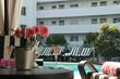 Poolside private cabanas at the Hotel Shangri-la Santa Monica
