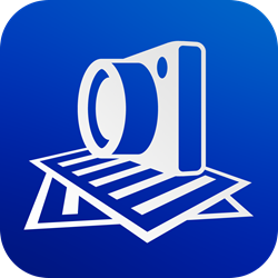 SharpScan icon: rapidly scan multipage documents into clean PDF on the go