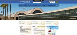 The new home page for John Wayne Airport