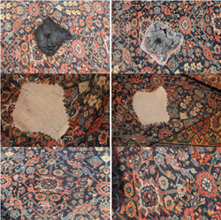 Restoration of burnt rug