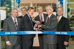 Pictured from left to right:  Lou Fantacone, General Manager VW Kennesaw; Frank Trivieri, VP, Sales Operations, Volkswagen of America; Jimmy Ellis, Jim Ellis Automotive Group COO; Mark McNabb, COO, Volkswagen of America; Jim Ellis, Jim Ellis Automotive Gr