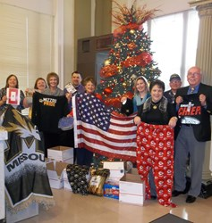 wood&huston employees show support of troops