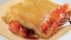 Seafood delivery special on Maine lobster pies