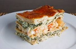Holiday seafood lasagna recipe