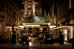 The Savoy London Christmas Hotel Entrance