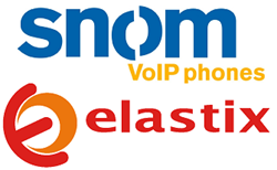 snom and Elastix logo