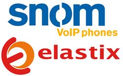 snom and Elastix logo