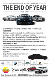Santa Barbara Auto Group Year End Car Sales