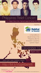 Glee and YouTube Stars Unite for a Philippines Benefit Concert on Stageit.com