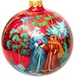 Russian Palekh Christmas Ornaments