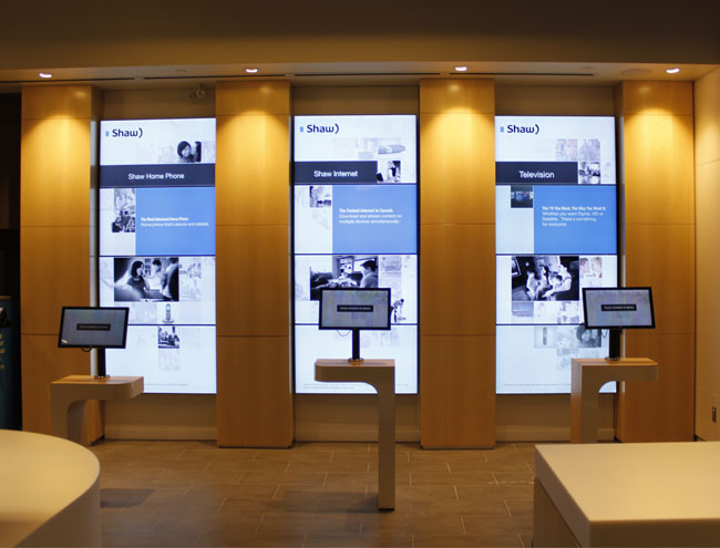 matrox mseries cards drive interactive digital signage in