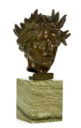 Augustus Saint-Gaudens, Head of Nike-Eirene, Bronze