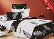 Charisma Black and White Feather Cotton 4 Piece Comforter Bedding Sets