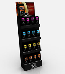 One of Landaal Packaging Systems POPTECH automatic displays.