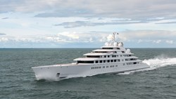 Image of superyacht Azzam which heads Boat International's list of the Top 100 Largest Yachts in the World