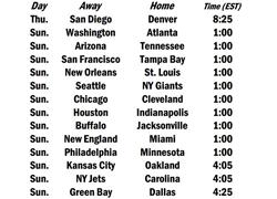 Week 15 Schedule