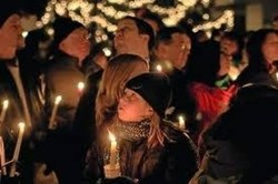 Sandy Hook Candlelight service, New Haven, Newtown