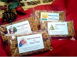 Do More Bars, gluten free bars with custom holiday labels