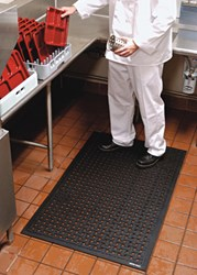 Heavy duty Comfort Flow Mats are designed for commercial kitchens and industrial applications - photo