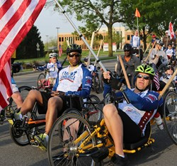 Marine Corps veteran LeMar Best at the 2013 Face of America ride.