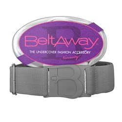 Gray Flat Adjustable Belt - Beltaway
