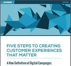 Cover page of the nFusion white paper,m Five Steps to Creating Customer Experiences That Matter