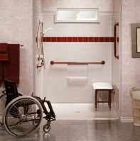 handicap roll-in showers